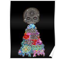 Make Art Not Barf Skull Rainbow Galaxy Illustration Poster