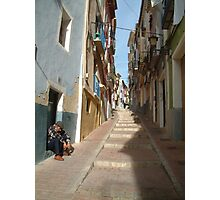 Villajoyosa street scene Photographic Print