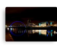 Glasgow Squinty Bridge Canvas Print
