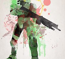 Master Chief, Halo Art Print by paperheroes