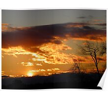 Sunset from Prince Philip Road, Biddeford, ME Poster