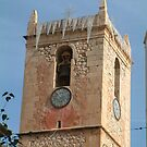 Villajoyosa Church Tower by Fay  Hughes