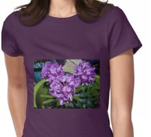 Sunlit Purple Rhododendron Blossoms Womens Fitted T-Shirt