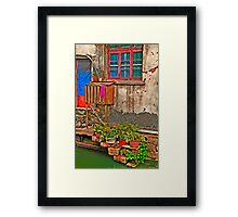 Ancient stairs (in HDR) Framed Print