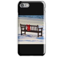 Red Bow White Snow iPhone Case/Skin