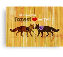 Foxtrot Love Potion Canvas Print