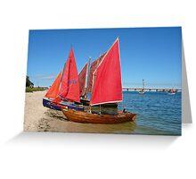 Red Sails - Bribie Island Greeting Card