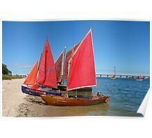 Red Sails - Bribie Island Poster