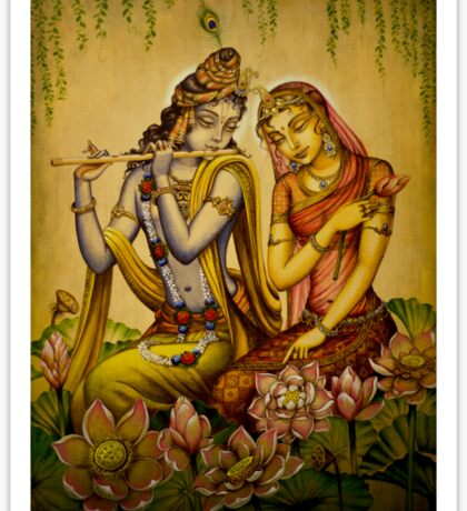 The nectar of Krishnas flute Sticker
