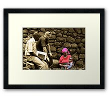 Aid Worker Framed Print