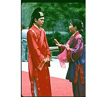 Groom Conferring With Matchmaker. Photographic Print