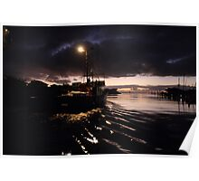 Fishing trawler leaving Port Lincoln on the Eyre Peninsula at dawn Poster