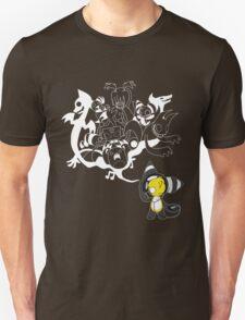 Music Demon (White Outline) Unisex T-Shirt