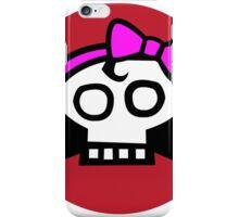 Get some girl power skull. iPhone Case/Skin