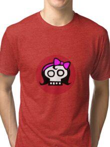 Get some girl power skull. Tri-blend T-Shirt