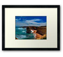 High Sandstone Cliffs - overlooking ocean Framed Print