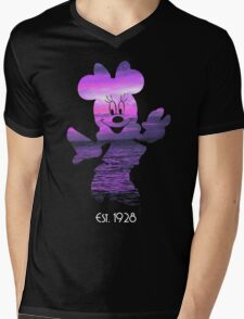 Minnie Mouse at Sunset Mens V-Neck T-Shirt