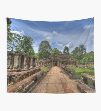 a historic Cambodia landscape Wall Tapestry