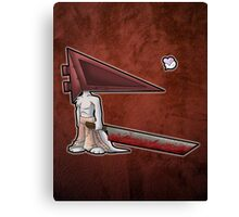 Pyramid Head Kitty Canvas Print