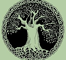Celtic Wisdom Tree (Black version) by IceFaerie