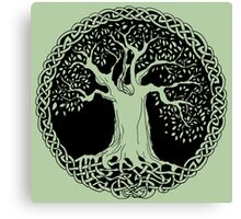 Celtic Wisdom Tree (Black version) Canvas Print
