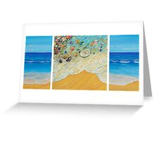 Serenity. Triptych Greeting Card