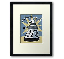 White Kitty Dalek Framed Print