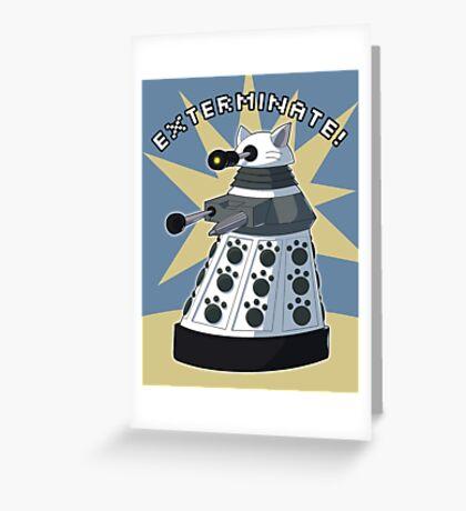 White Kitty Dalek Greeting Card