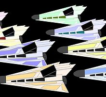 Simplistic Starships by PaulMonj