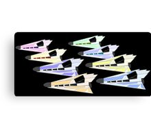 Simplistic Starships Canvas Print