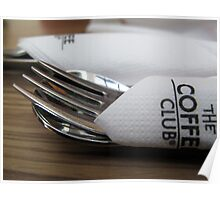 Restaurant Fork and Spoon Poster