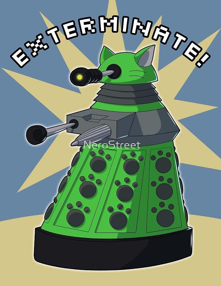 Green Kitty Dalek by NeroStreet