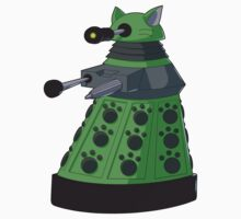 Green Kitty Dalek One Piece - Short Sleeve