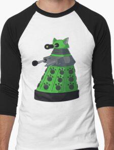 Green Kitty Dalek Men's Baseball ¾ T-Shirt