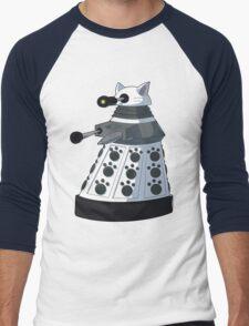 White Kitty Dalek Men's Baseball ¾ T-Shirt