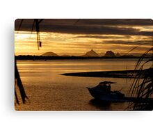 View to the Glass House Mountains - Bribie Island Canvas Print