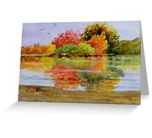 Miniature Series  ''Autumn Reflections'' Greeting Card
