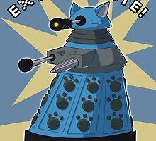Blue Kitty Dalek by NeroStreet