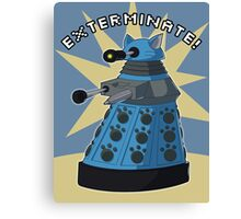 Blue Kitty Dalek Canvas Print