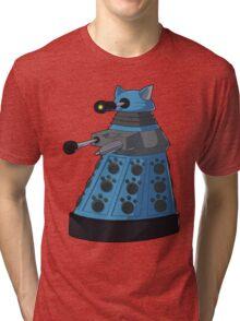Blue Kitty Dalek Tri-blend T-Shirt