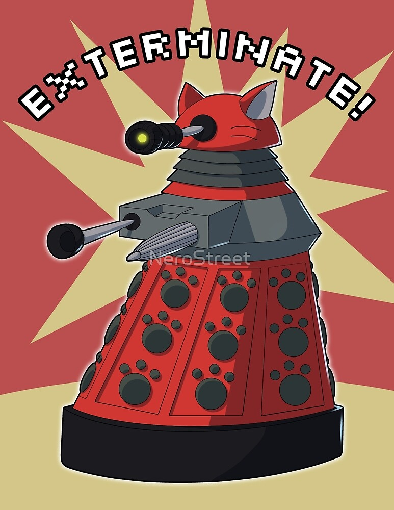 Red Dalek by NeroStreet