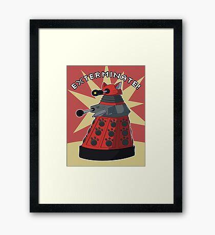 Red Dalek Framed Print