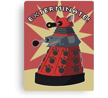 Red Dalek Canvas Print