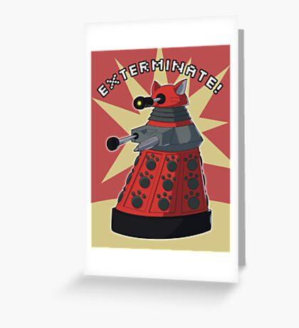 Red Dalek Greeting Card