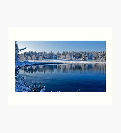 Winter Lake Scene 2 Art Print