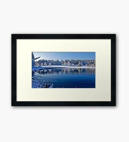 Winter Lake Scene 2 Framed Print