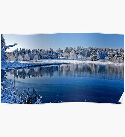 Winter Lake Scene 2 Poster