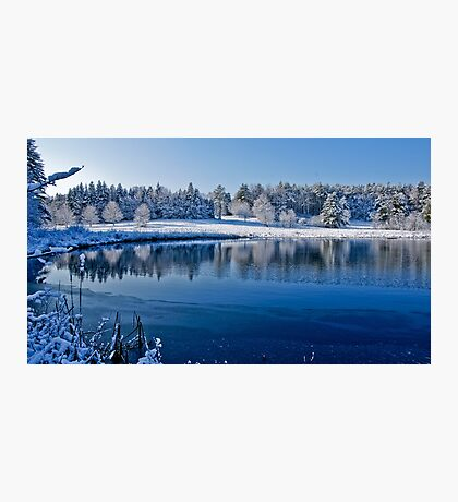 Winter Lake Scene 2 Photographic Print