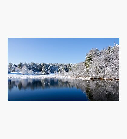 Winter Lake Scene Photographic Print
