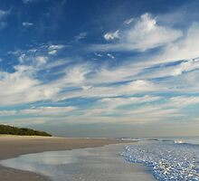 Beach Walk - Bribie Island by Barbara Burkhardt